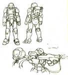 Sketch: Power suit