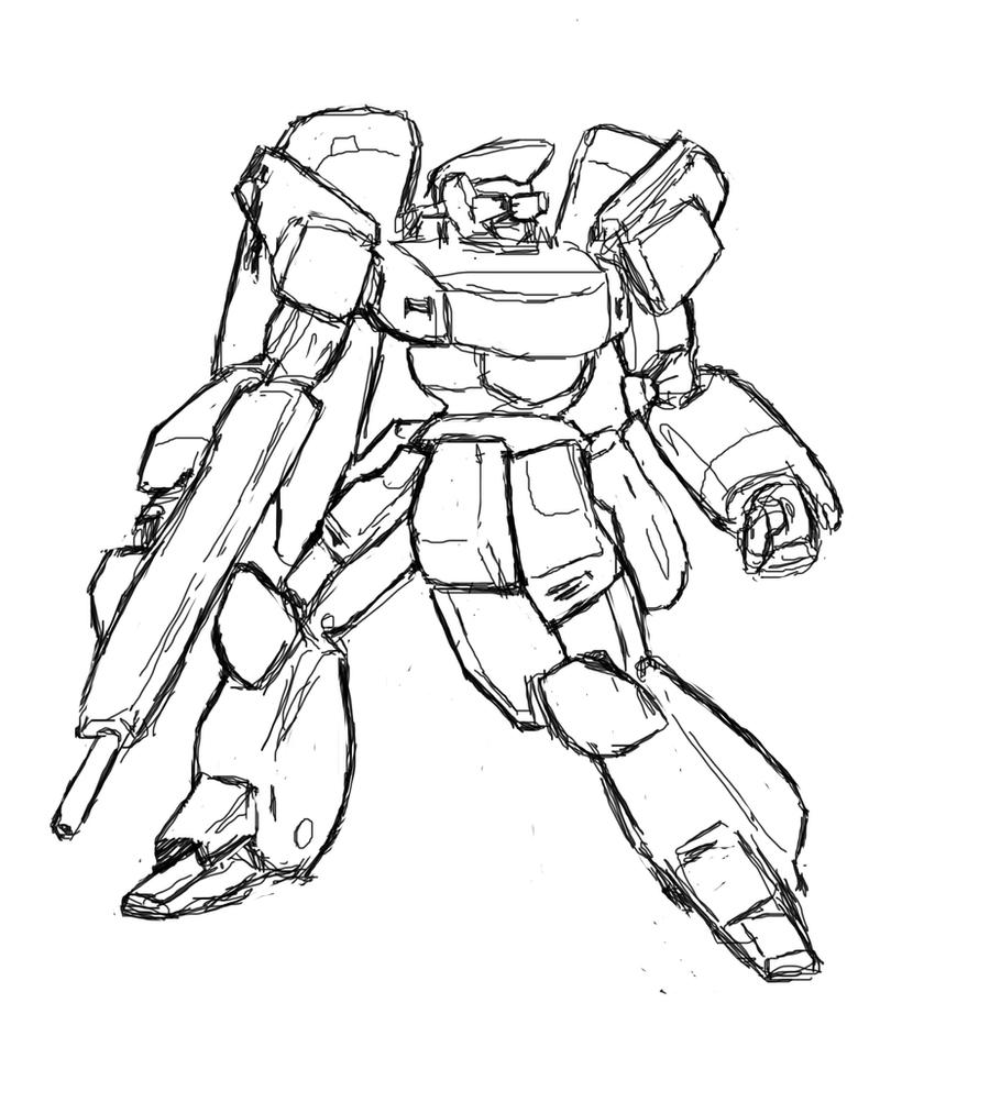 Sketch mecha design by Darcad