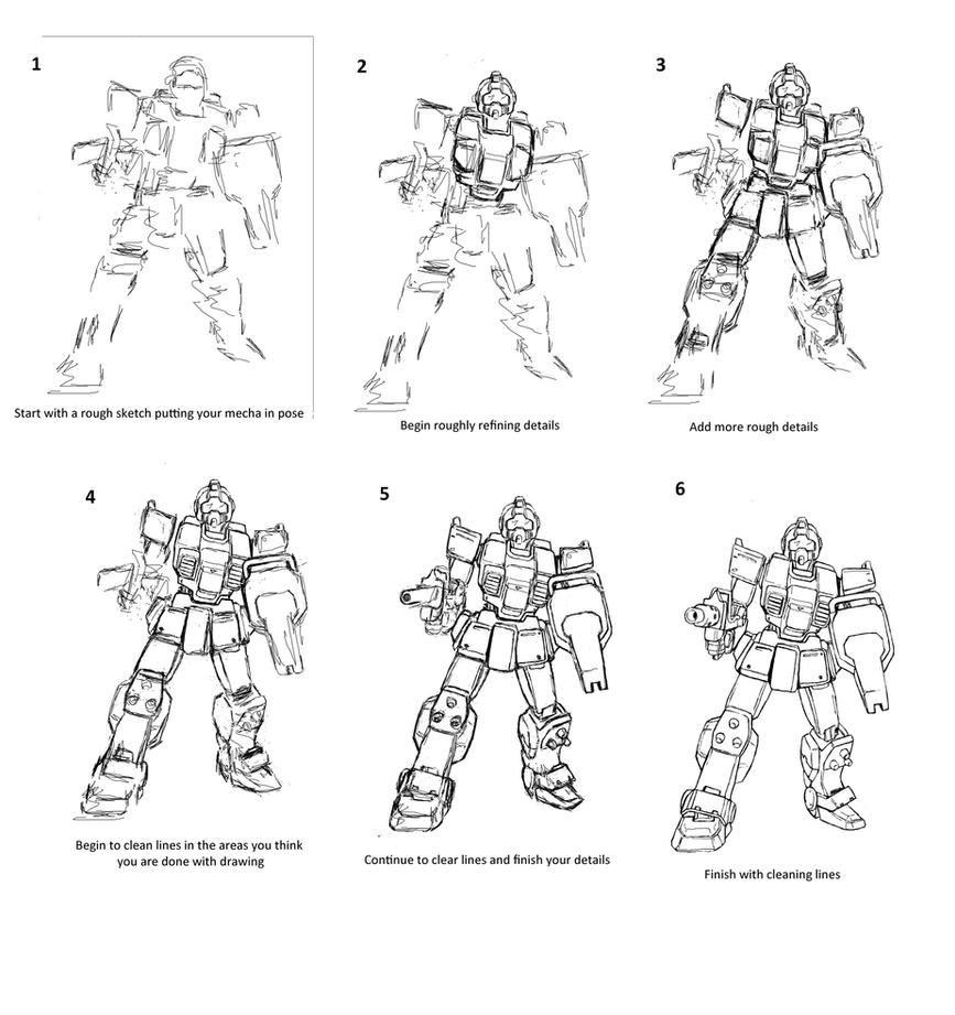 Tutorial: Drawing a mecha by Darcad