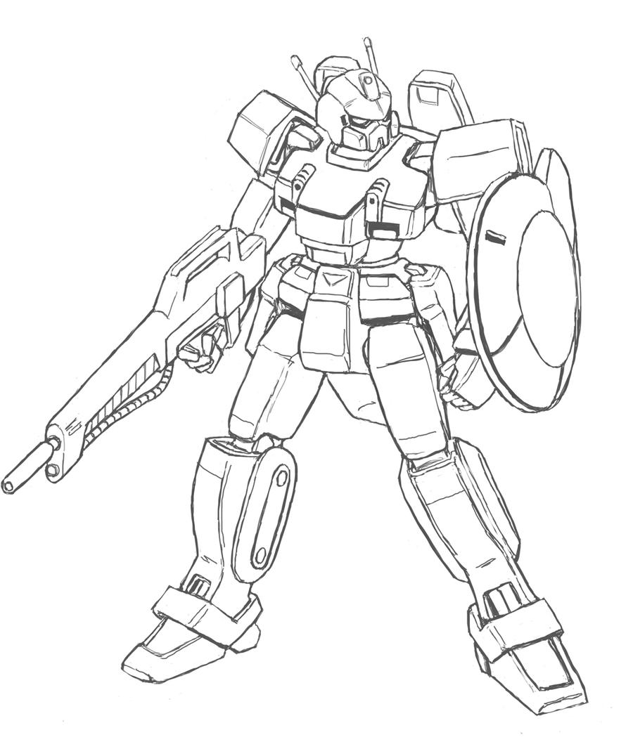 Line Drawing Robot : Mecha concept real robot by darcad on deviantart