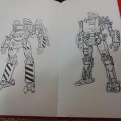 Sketch: some mecha design on sketchbook