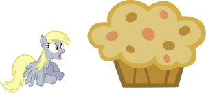 Derpy and her Muffin of awesomeness by Vector-Brony