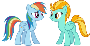 Rainbow Dash and Lightning Dust