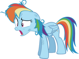 Rainbow Dash Out of breath by Vector-Brony