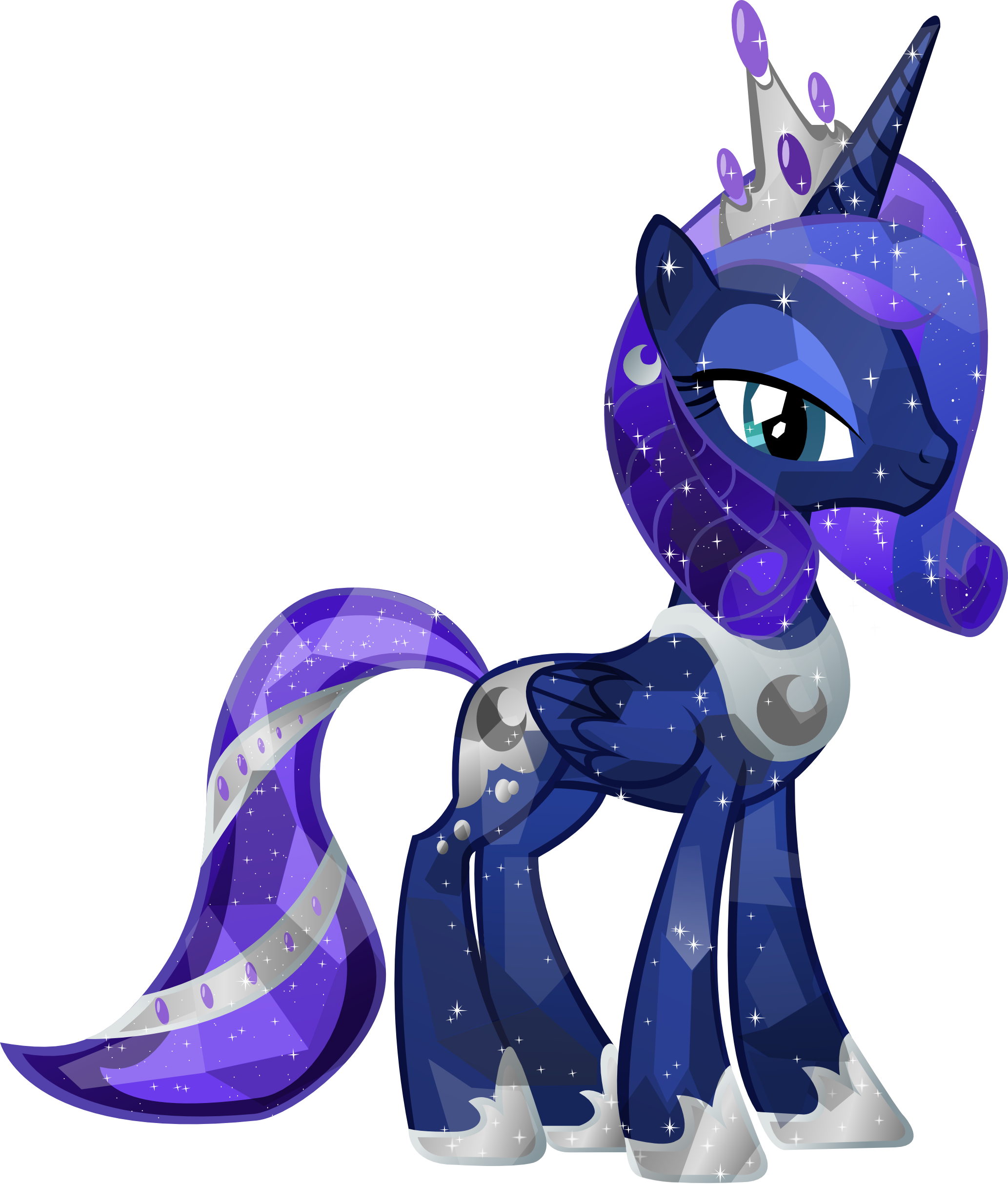 Crystal Princess Luna by Vector-Brony