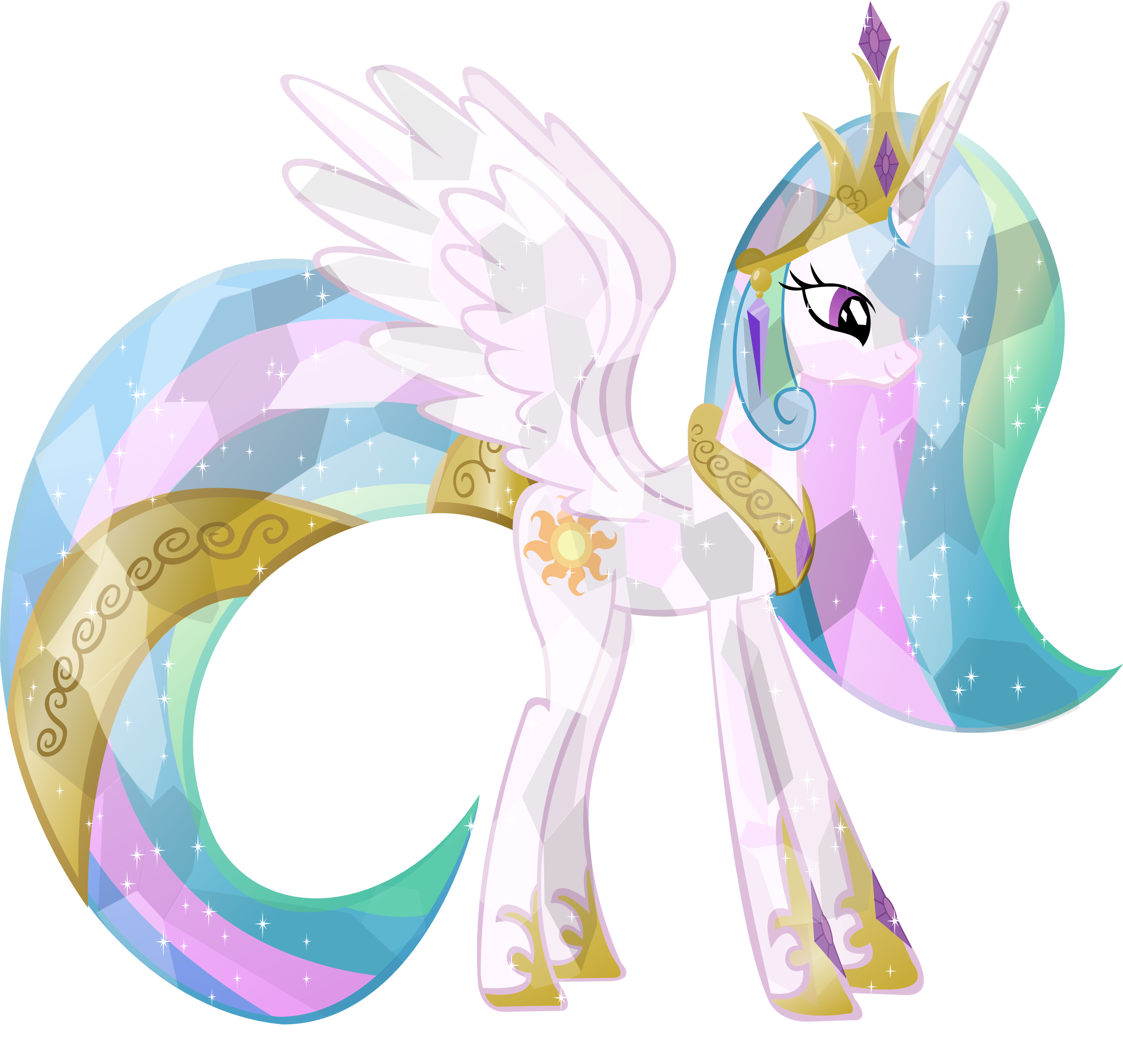 My Little Pony Coloring Pages Crystal Empire : Crystal princess celestia by vector brony on deviantart