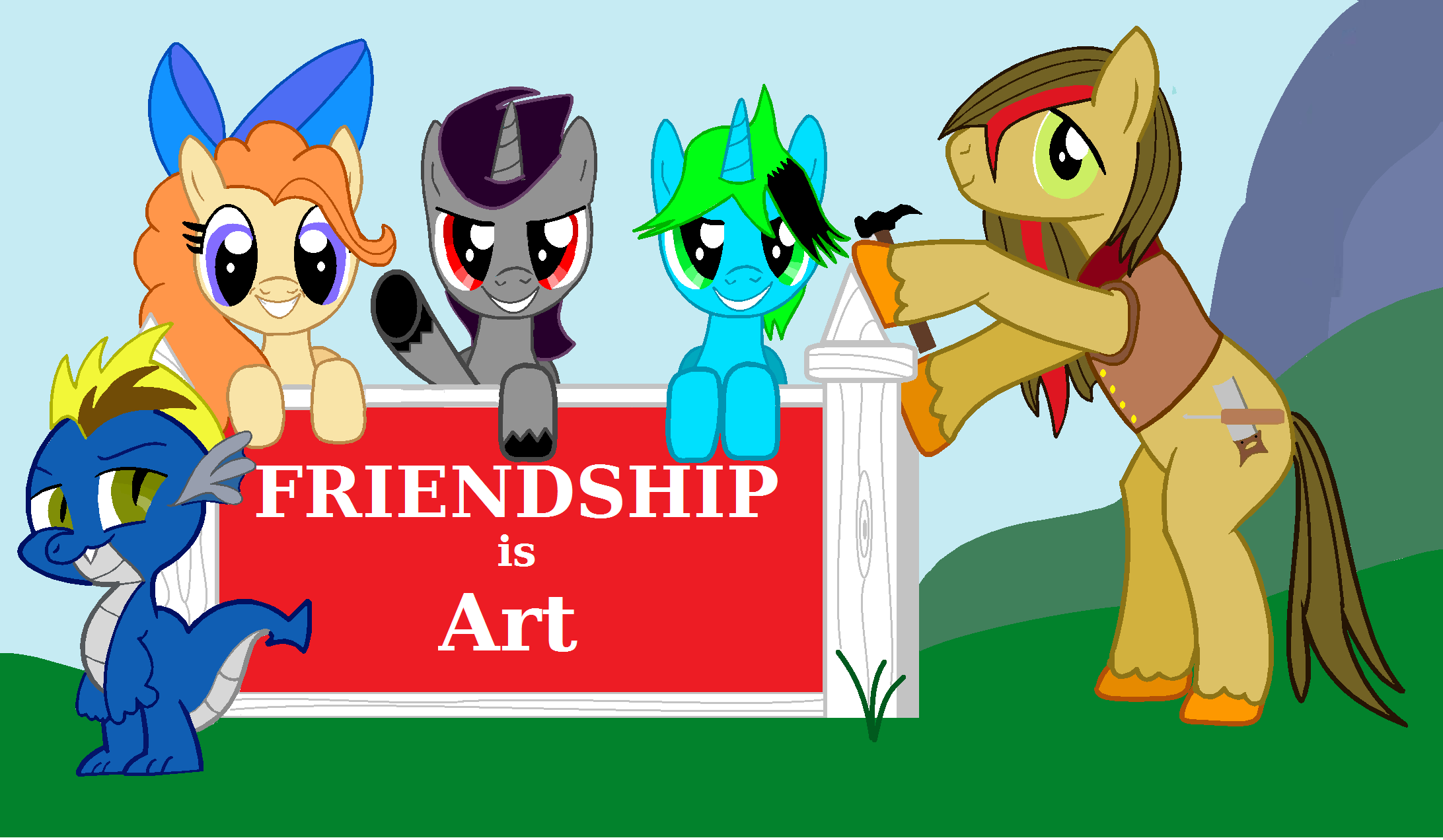 original friendship is art banner by Vector-Brony