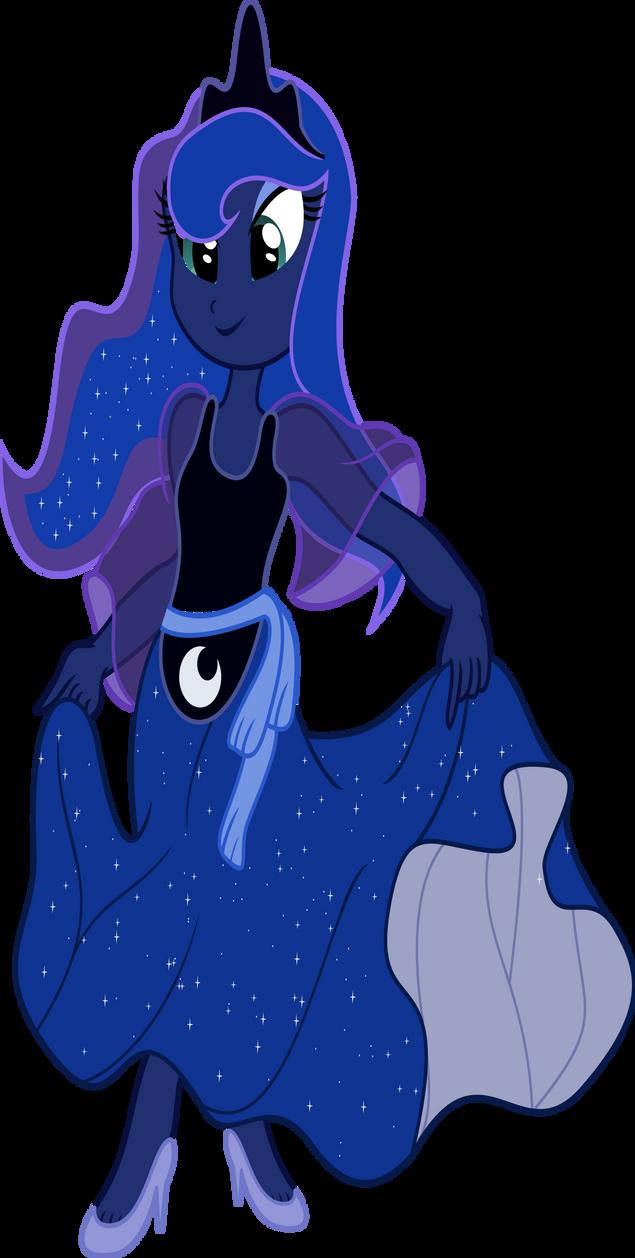 Equestria Girls Princess Luna By Vector Brony On Deviantart