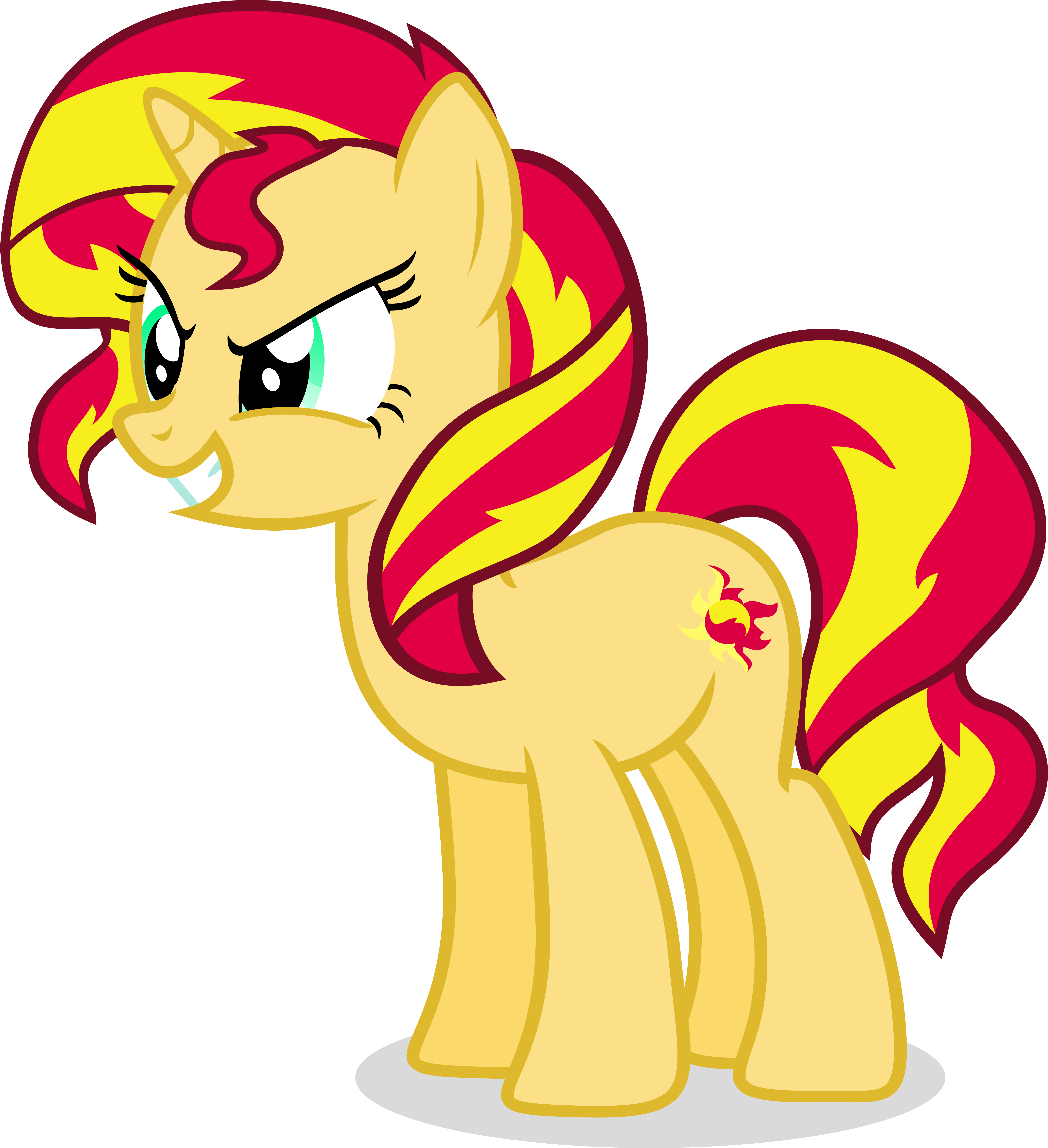 Sunset Shimmer by Vector-Brony