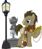 Doctor Hooves and Weeping Angel by Vector-Brony