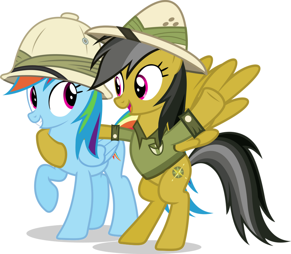 Rainbow Dash With Daring Do by Vector-Brony