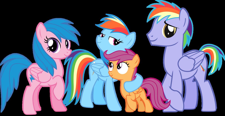Rainbow dash's family by Vector-Brony
