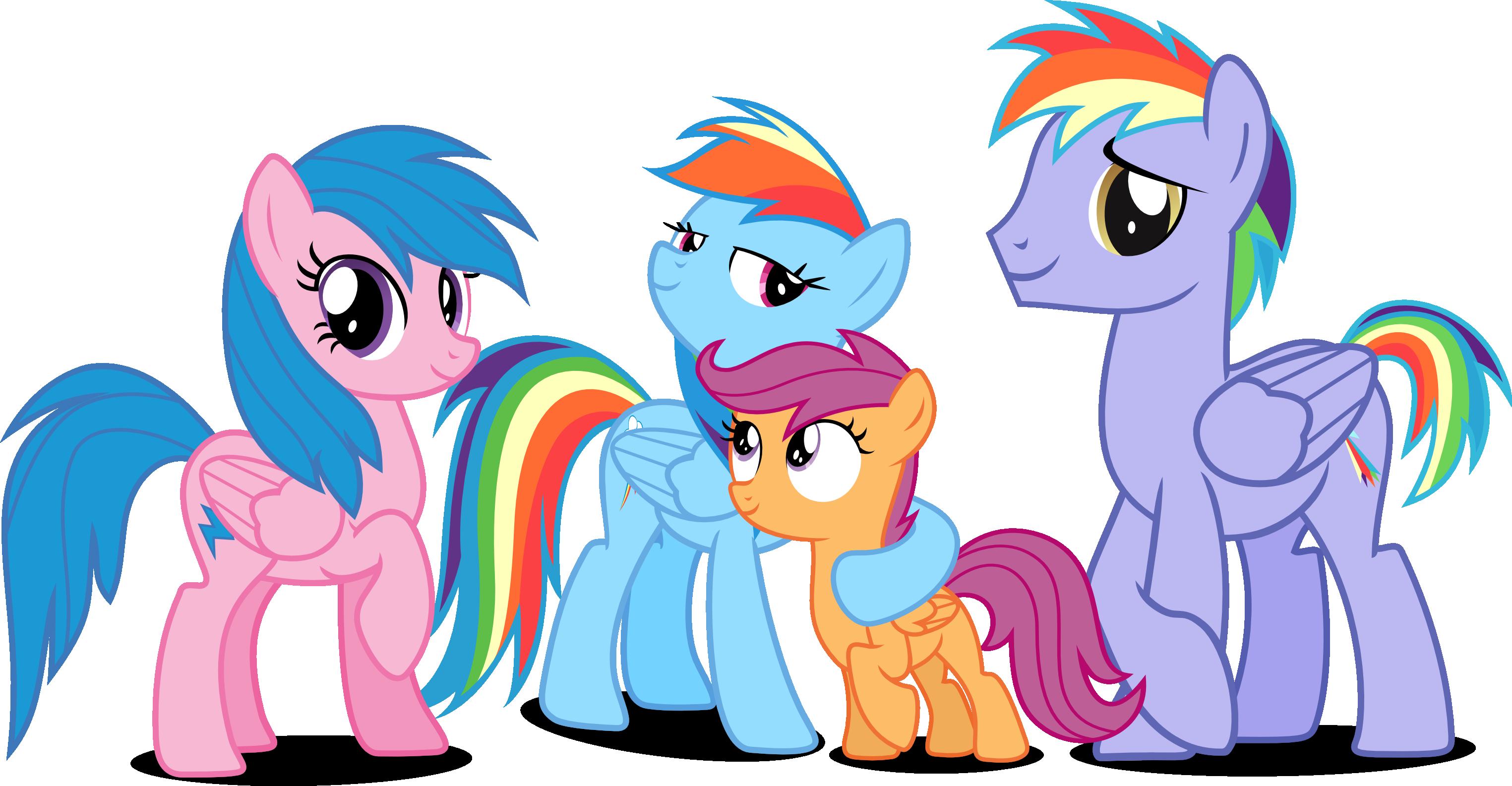 rainbow dashs family by vectorbrony on deviantart