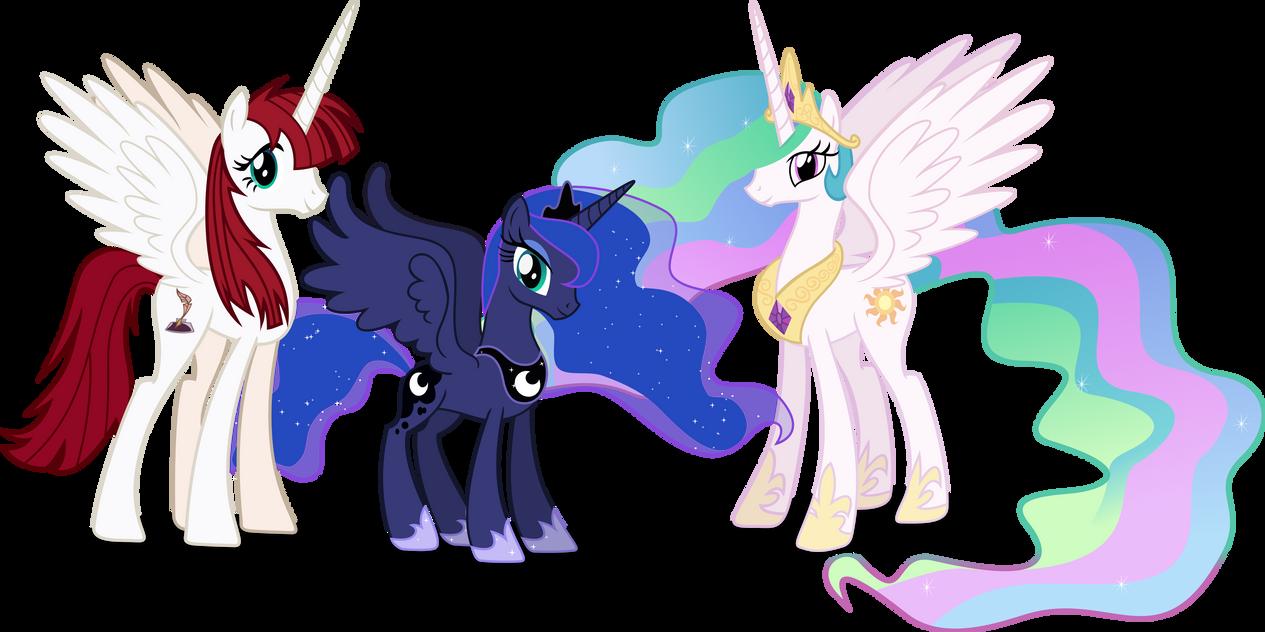 Celestia, Luna and Lauren Fausticorn