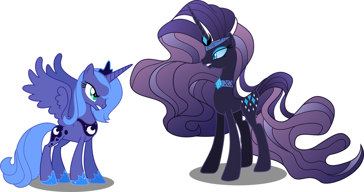 Nightmare Rarity Vs Luna by Vector-Brony