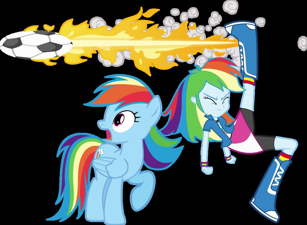 Rainbow Dash And Rainbow dash by Vector-Brony