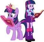 Twilight Sparkle and Twilight Sparkle