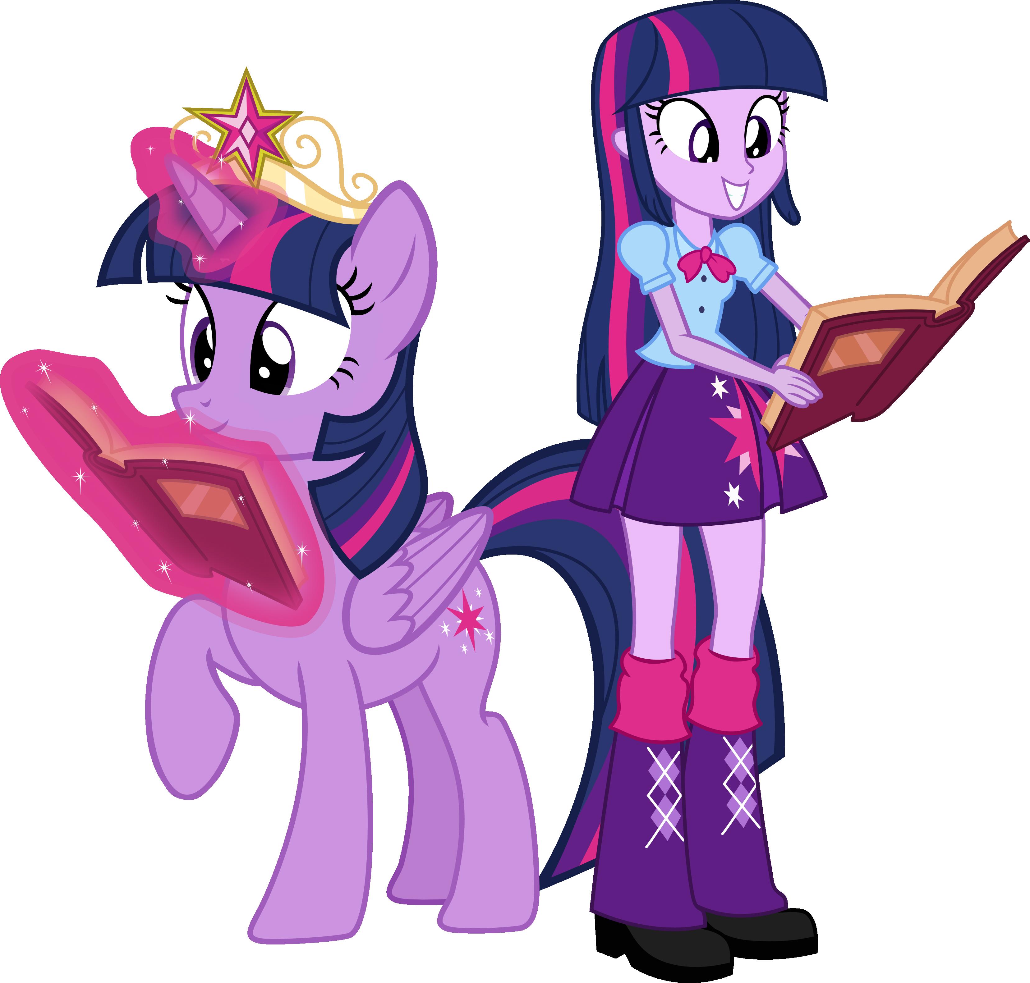 Twilight Sparkle and Twilight Sparkle by Vector-Brony