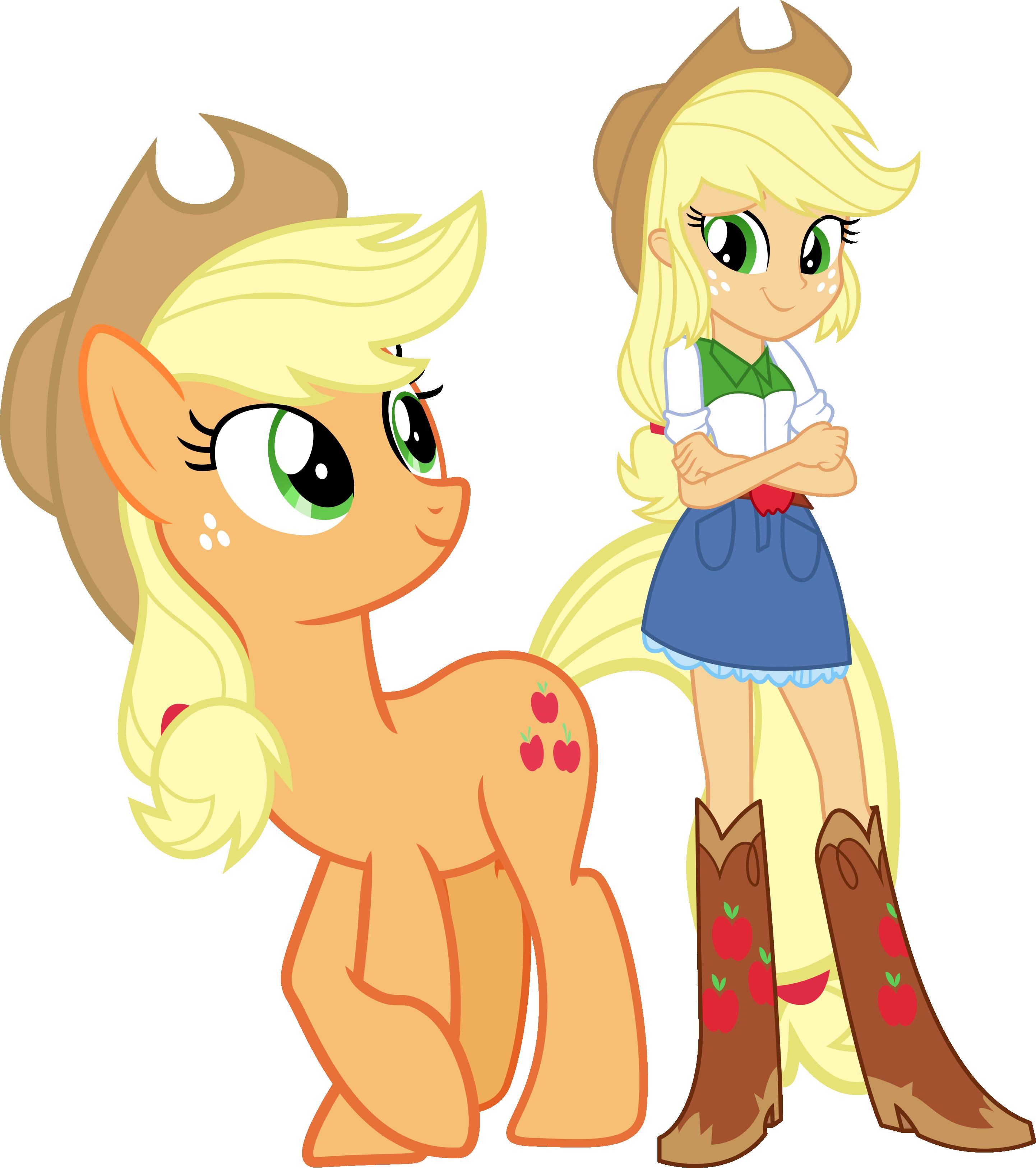 Applejack and applejack by vector brony on deviantart - My little pony en humain ...