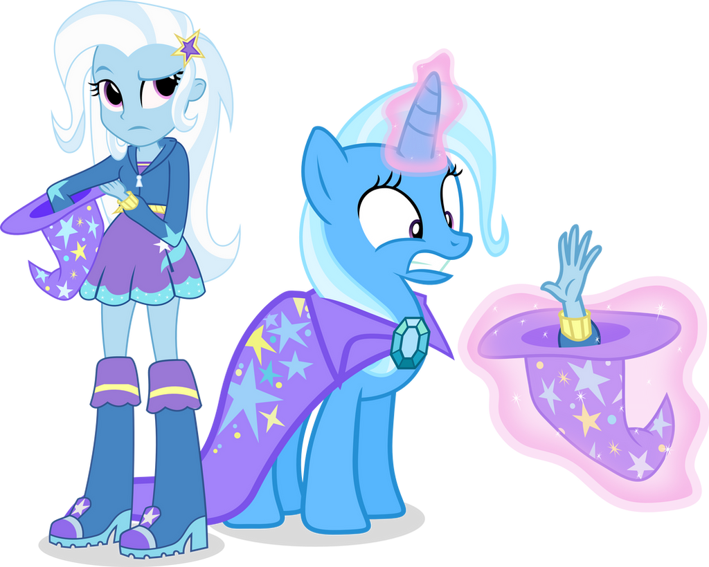 Trixie and Trixie by Vector-Brony
