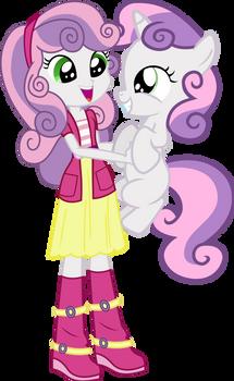Sweetie Belle And Sweetie Belle by Vector-Brony