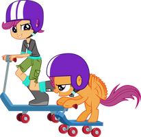 Scootaloo And Scootaloo by Vector-Brony