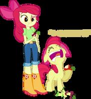 Applebloom and Applebloom by Vector-Brony
