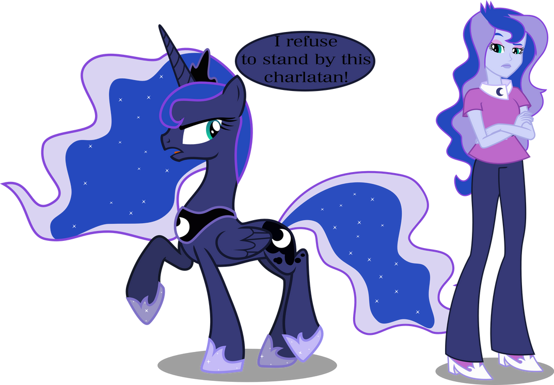 Princess Luna and Vice Principal Luna by Vector-Brony