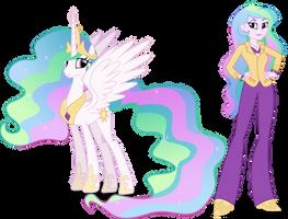 Princess Celestia and Principal Celestia by Vector-Brony