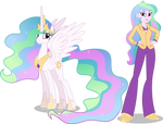 Princess Celestia and Principal Celestia