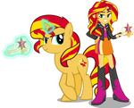 Sunset Shimmer And Sunset Shimmer