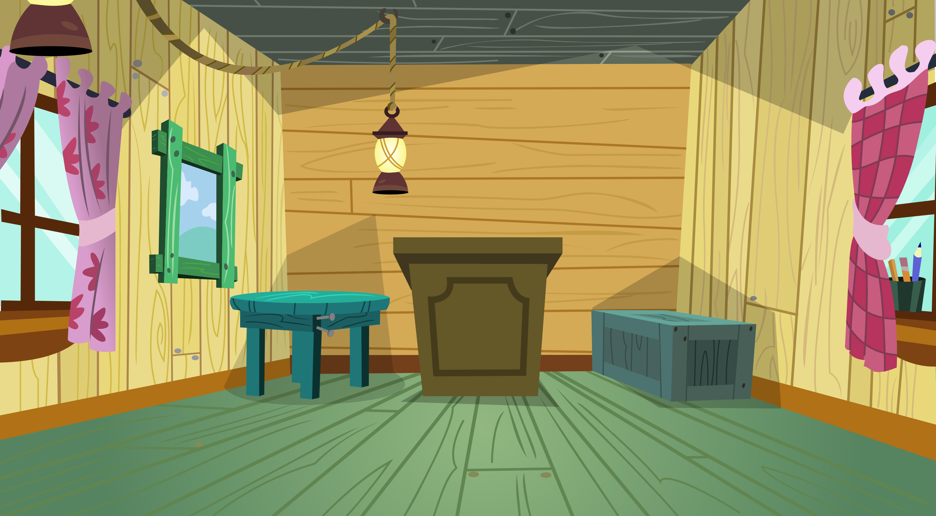 Old Fashion Cartoon Living Room