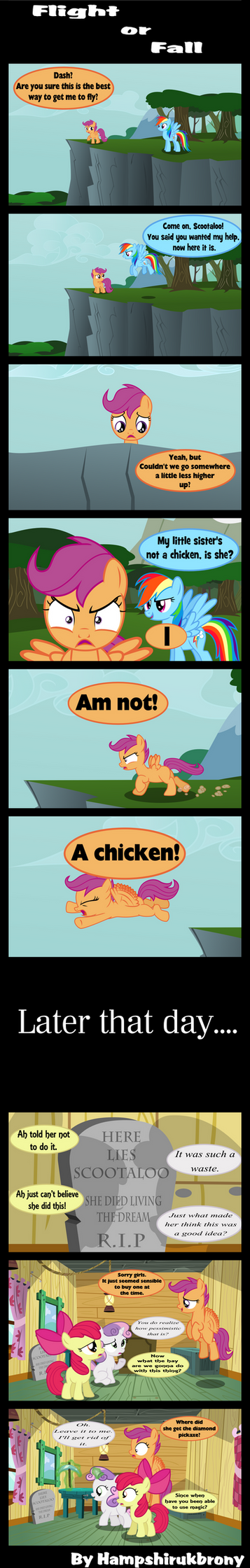 Flight or fall by Vector-Brony