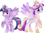 Crystal Princess Twilight and Princess Cadence
