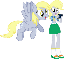 Derpy and Derpy by Vector-Brony