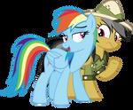 Rainbow Dash looking flirty