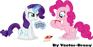 Rarity and Pinkie Playing cards