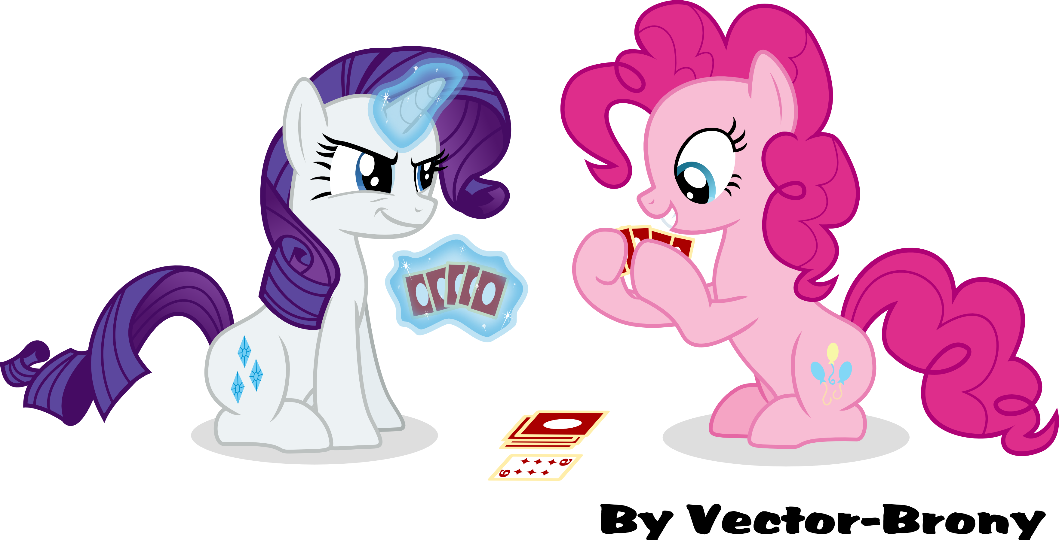Rarity and Pinkie Playing cards by Vector-Brony