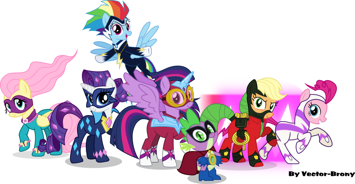The Power ponies and Humdrum by Vector-Brony