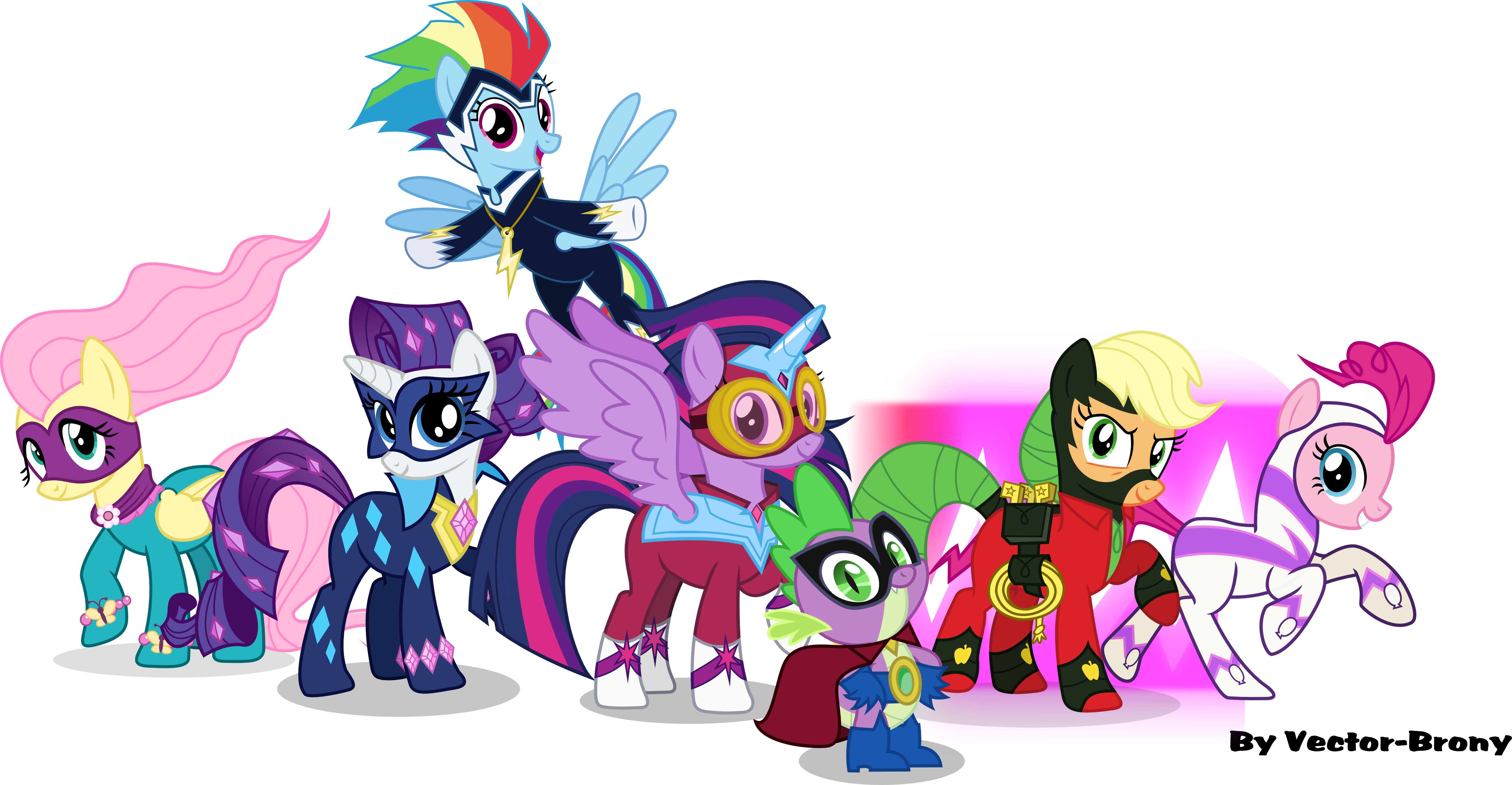 The Power Ponies And Humdrum By Vector Brony On DeviantArt