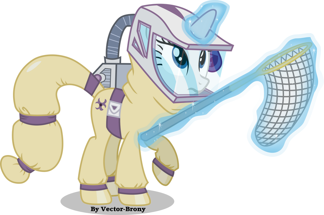 Rarity in a hazmat Suit by Vector-Brony