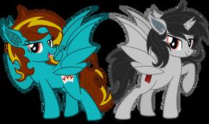 Kp and Rio bat ponies