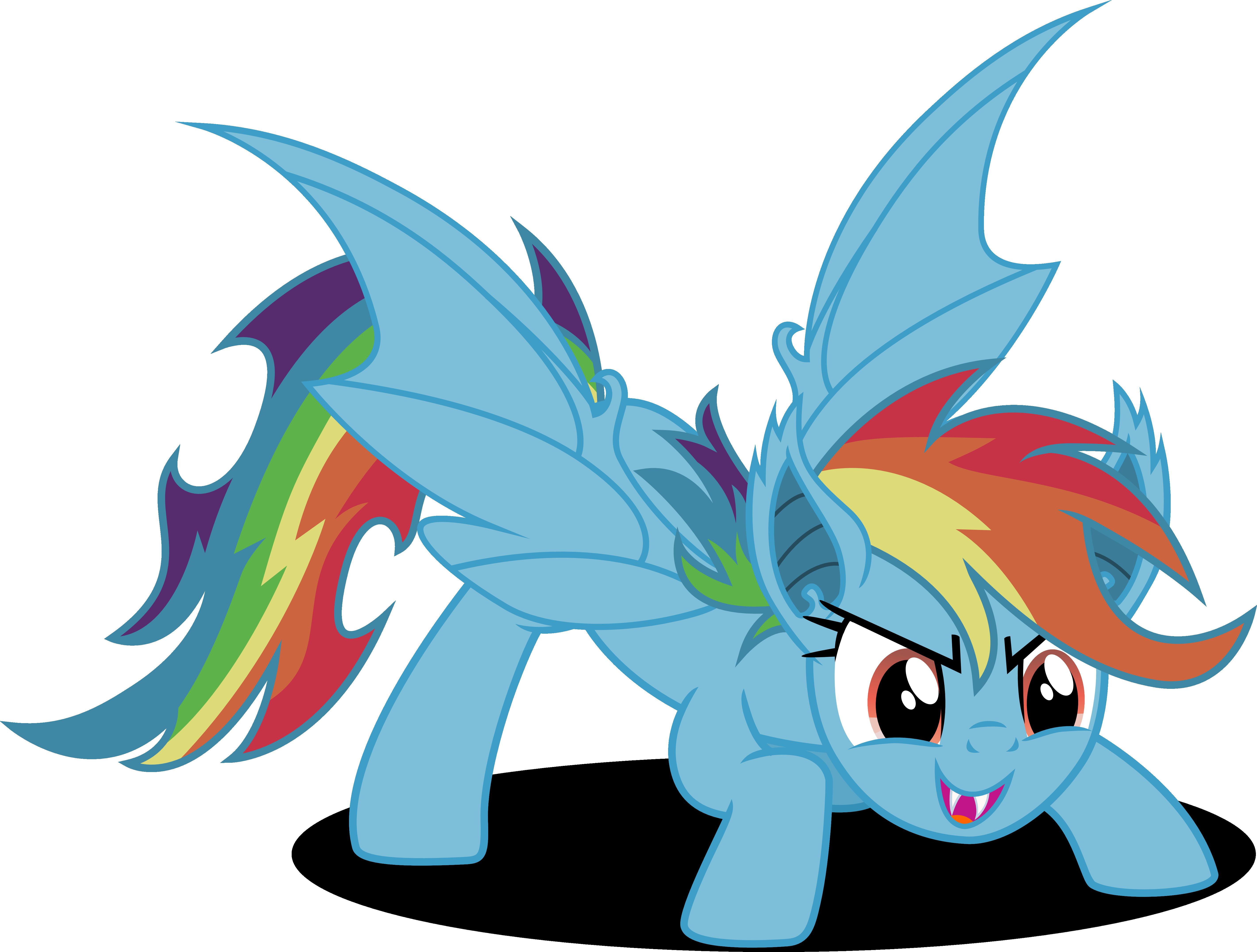 Rainbow bat by Vector-Brony