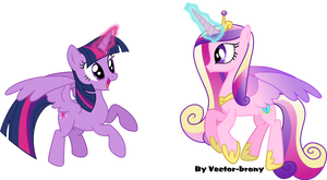 Flying Princesses Twilight And Cadence