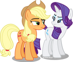 Applejack And Rarity are not buying it