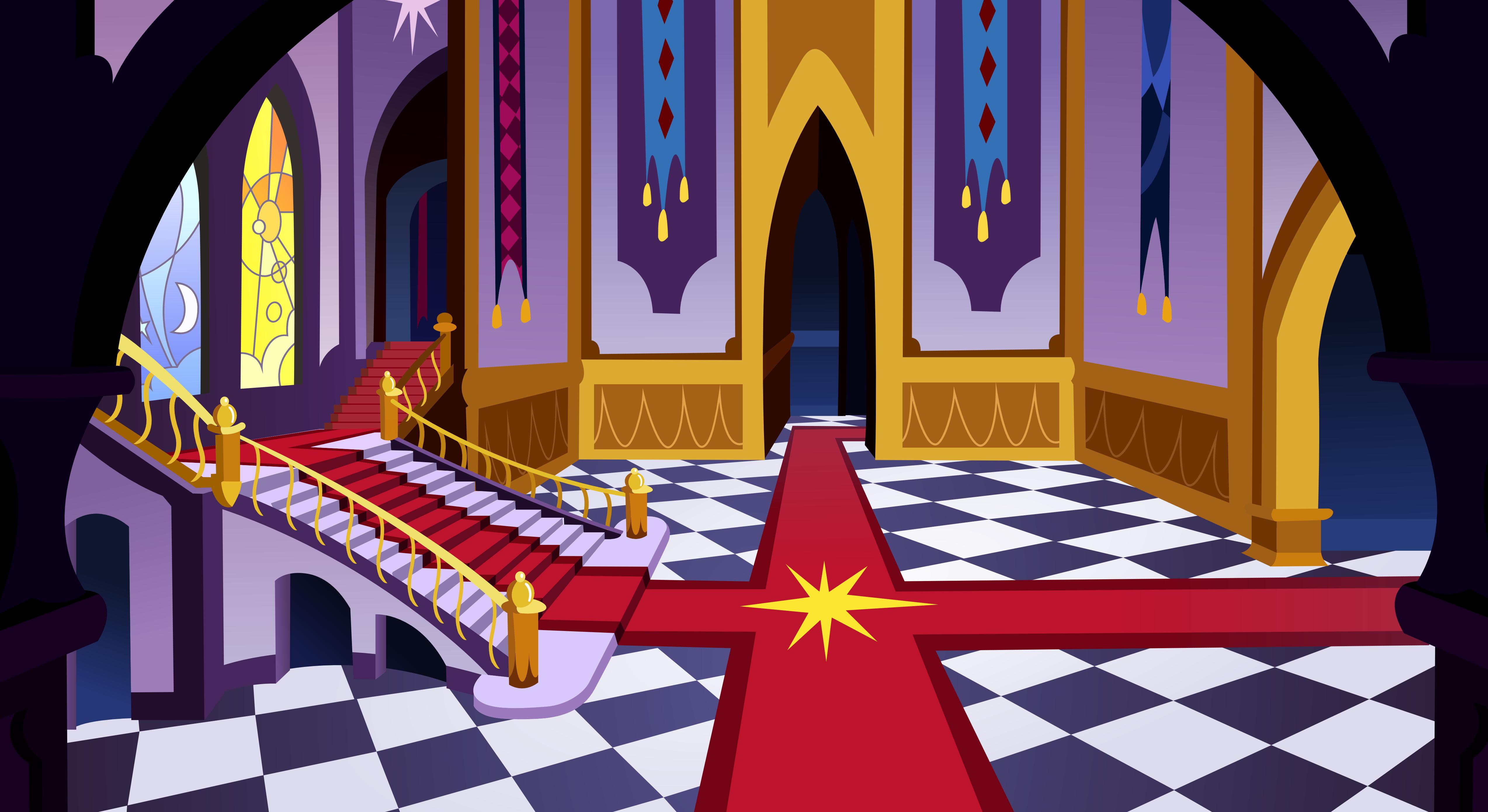 Canterlot Castle hall by Vector-Brony