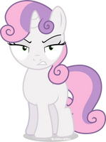 Angry Sweetie-Belle by Vector-Brony