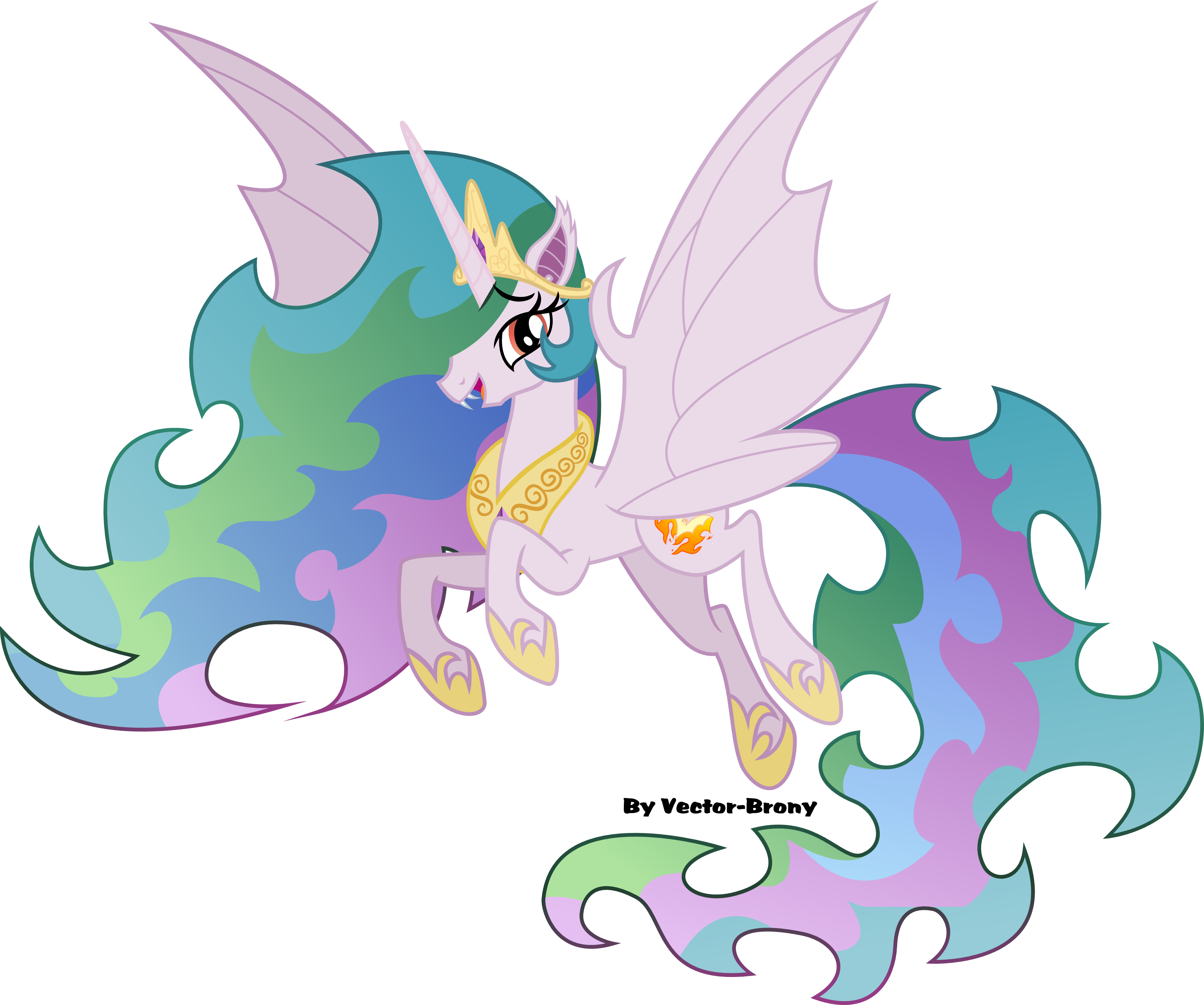 Bat Princess Celestia by Vector-Brony
