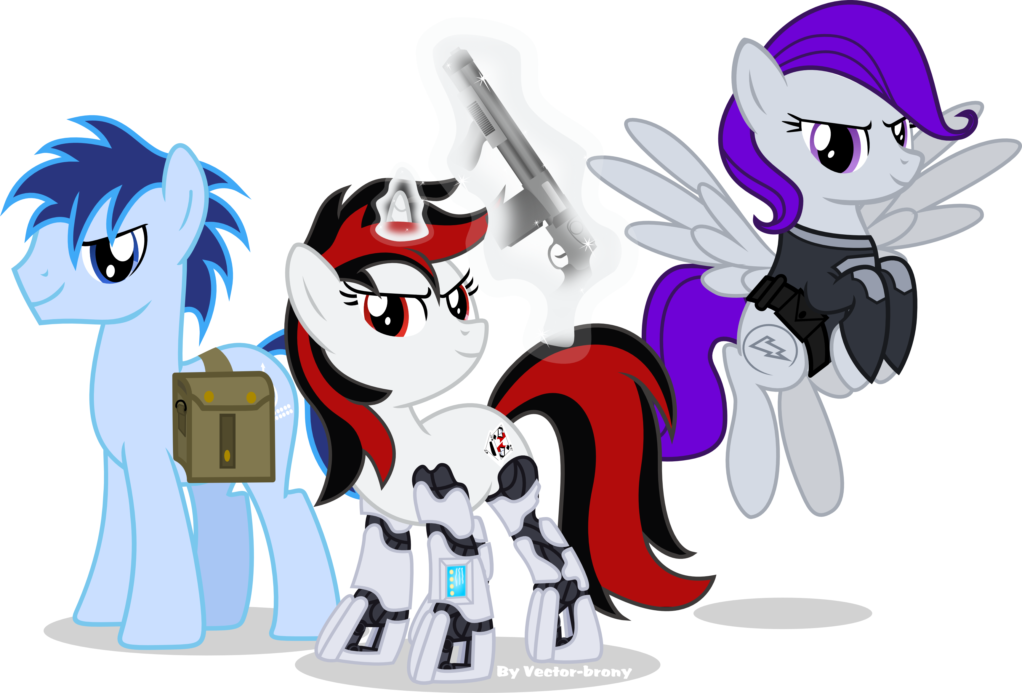 Blackjack with P-21 and Glory by Vector-Brony