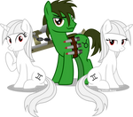 Gem, Mini and Taurus (Fallout Equestria)